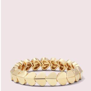 kate spade heritage spade heart stretch bracelet